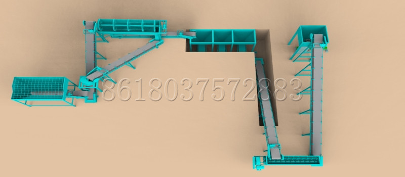 3D Design of Making Powder Bio Organic Fertilizer