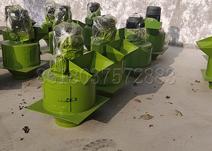 Chain Cushing Machine In Factory For Pig Manure Management