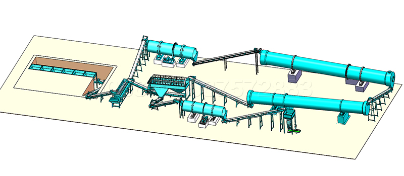 Compound Fertilizer Production Line with Rotary Drum Granulator