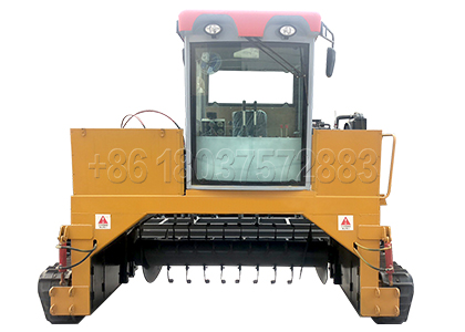 Crawler Type Windrow composting Turning Machine for Cow Manure Disposal
