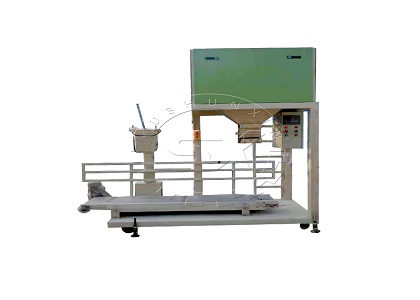 Double Bucket A utomatic Packing Scale in Horse Manure Management Factory