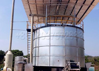 Fermentation Tank for Sheet Manure Composting at Large Scale