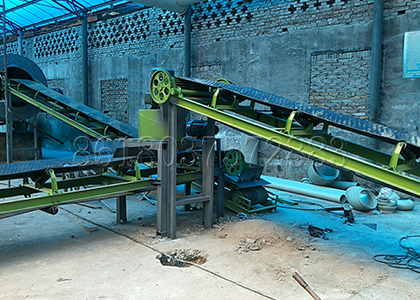 Fertilizer Belt Conveyor in Drying Process