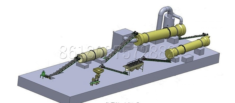Granulating System for Producing Horse Manure Organic Fertilizer Pellets