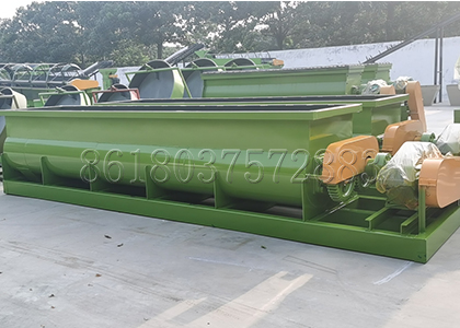 Horizontal mixer(double shafts)for Mixing Organic Fertilizer Raw Materials