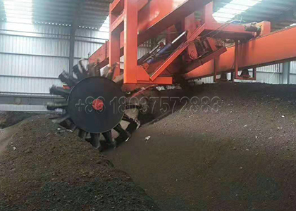 Large Scale composting machine for disposing Chicken manure