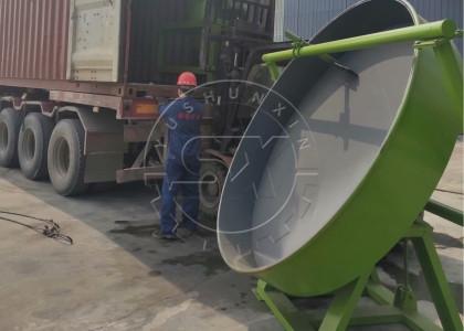 Manure Pellet Pan Granulator Delivery