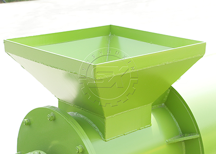 Organic fertilizer chciken manure pellet making machine raw material feeding port