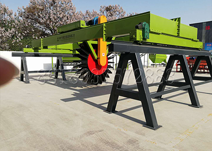 Wheel Type Compost Turner for Disposing Organic Waste in Fertilizer Manufacturing Plant