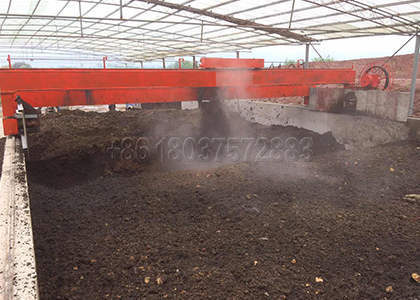 Wheel type Compost Turner for Composting Large Scale Pig Farm Waste