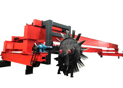 Wheel type Compost Turner with Capacity over 1200 cubic meters