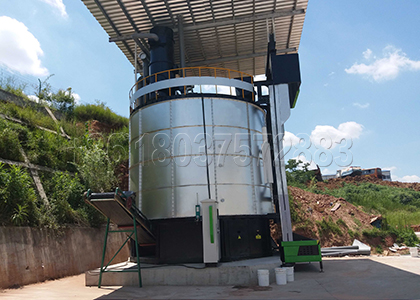 In-vessel Compost Machine for Farm Manure Waste Disposal