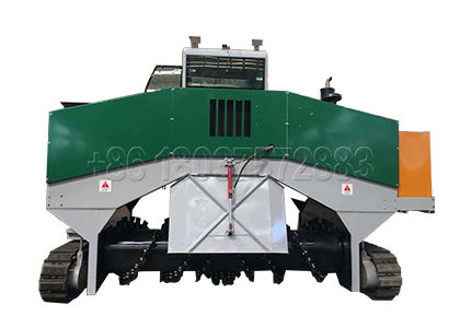 New Crawler type Compost Turner for Manure Disposal