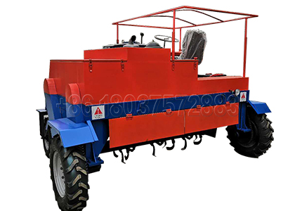 Self-Propelled Compost Turner for Commercial Composting Plant