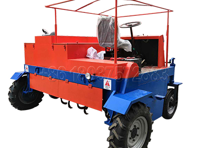 Self-Propelled Compost Turner in Small Plants