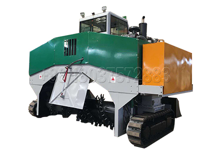 Windrow type Compost Machine for Malaysian customers