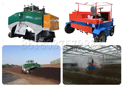 Cow Dung Compost Windrow Turning Machine