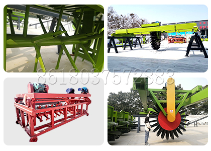 Hydraulic type Groove Compost Turner for Cow Manure Composting