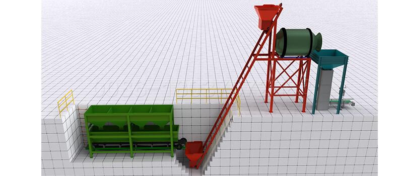 NPK fertilizer blending plant line
